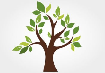 Stylized Vector Tree - бесплатный vector #146577