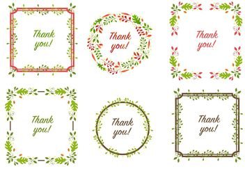Thanksgiving Border Vectors - Free vector #146587