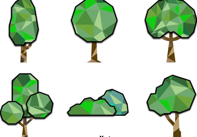 Polygonal Trees - Free vector #146607