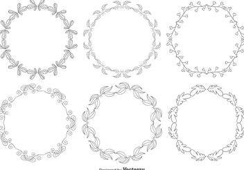 Hand Drawn Style Frame Set - Free vector #146637