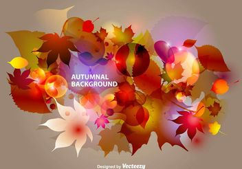 Autumnal Abstract Background - Free vector #146657