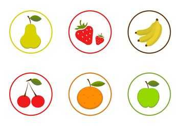 Vector Fruit Icon Set - Kostenloses vector #146757