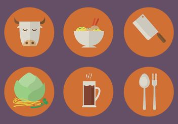 Vector Restaurant Icons - vector gratuit #146767