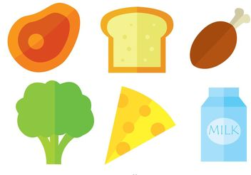 Food Vector Icons - vector gratuit #146827