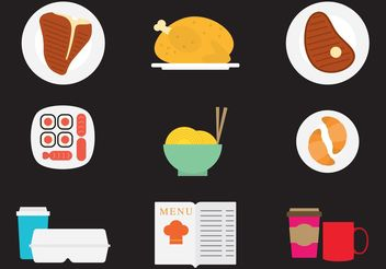 Dinner Vector Icons - vector gratuit #146837