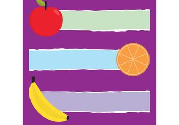 Fruit Vector Banners - бесплатный vector #146877