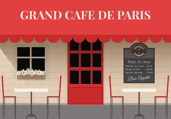 Free Outdoor Cafe Vector - Free vector #146937