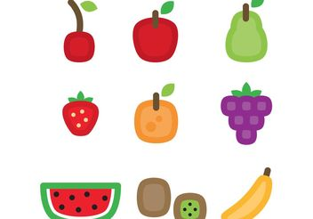 Fruit Vector Icons - бесплатный vector #146957