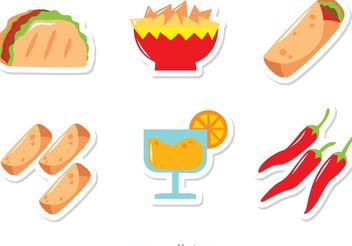 Mexican Food Icons Vectors Pack - Free vector #146987