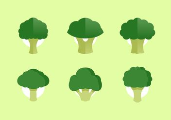 Broccoli Vector Illustrations Free Download - бесплатный vector #147037