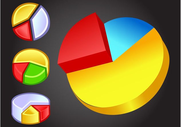 Pie Charts - Free vector #147077