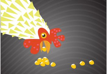 Eating Chicken - vector gratuit #147127