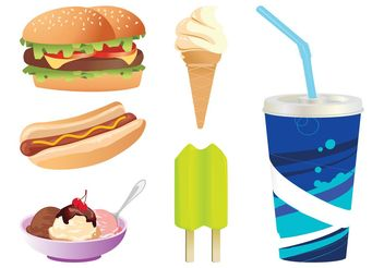 Fast Food Graphics - vector gratuit #147137