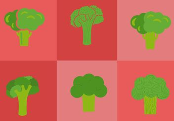 Broccoli Isolated Vectors - Free vector #147197