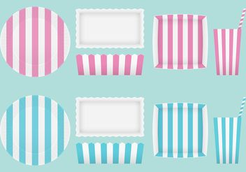Vector Party Paper Plates And Glasses - vector gratuit #147207