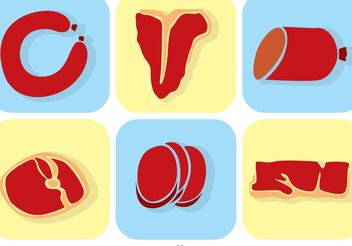 Set Of Meat Vectors - Kostenloses vector #147237