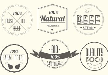Free Vector Meat Labels - vector gratuit #147257