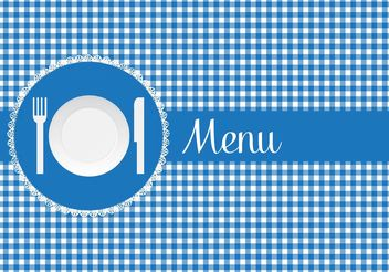 Free Menu Card With Paper Plate Vector - vector gratuit #147267