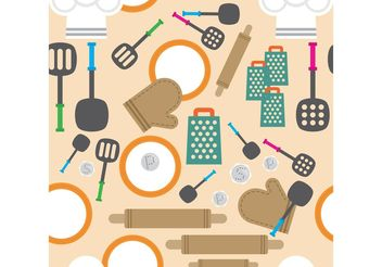 Kitchen Vector Background - Free vector #147307