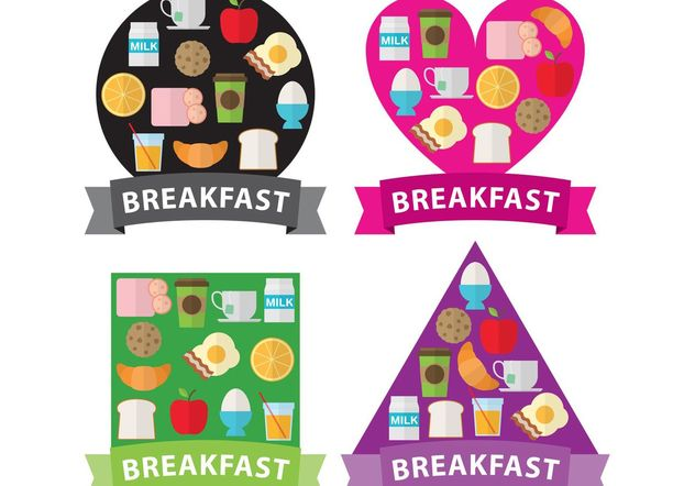 Breakfast Shapes - Free vector #147347