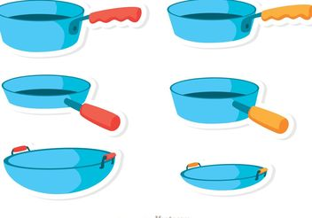 Blue Pan Vectors - Free vector #147367