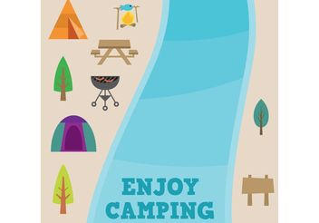 Camping Vector Pack - Kostenloses vector #147397