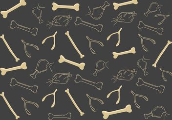 Chicken Bone Pattern Vector - Free vector #147427