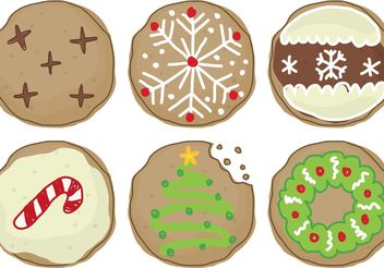 Christmas Cookies - Free vector #147437