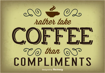 Typographic Coffee Poster - Free vector #147447