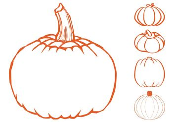 Pumpkins Graphics Set - vector gratuit #147467