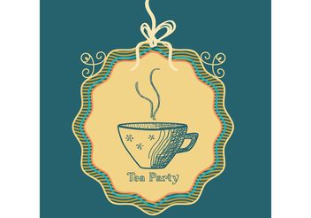 Sketched Tea Cup Vector Background - vector gratuit #147477