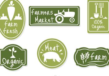 Farmers Market Green Badge Vector - бесплатный vector #147527