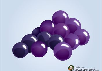 Vector Grapes - vector gratuit #147567