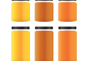 Honey Vector Jars - vector gratuit #147597
