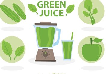 Green Juice Vectors - vector gratuit #147637