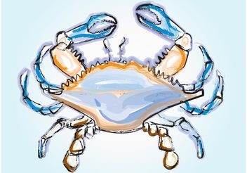Crab Illustration - vector gratuit #147647