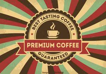 Vintage Coffee Poster - Free vector #147697