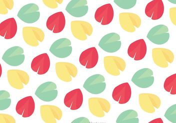 Fortune Cookie Pattern Vector - Free vector #147767