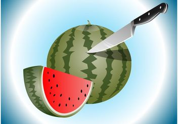 Watermelon Slices - vector gratuit #147847