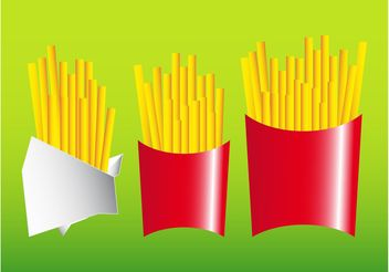 French Fries - vector gratuit #147877