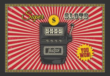 Free Retro Slot Machine Vector Background - vector gratuit #147907