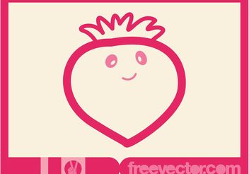 Vector Strawberry Cartoon - Free vector #147937