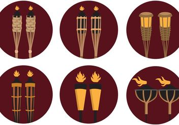 tiki torch vector - бесплатный vector #147967