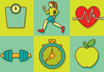 Healthy Diet Vector Icons - бесплатный vector #148037