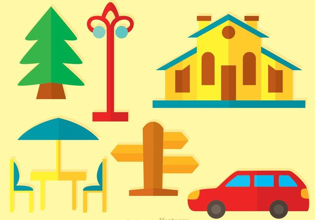 Flat House Vector Icons - Kostenloses vector #148047
