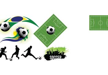 Soccer Vector Elements Set - vector gratuit #148077