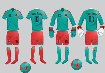 Your Sports Jersey Vectors - vector gratuit #148087