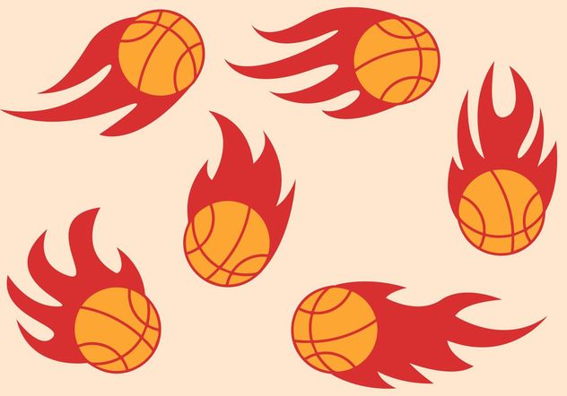 Basketball on Fire Vectors - vector gratuit #148147