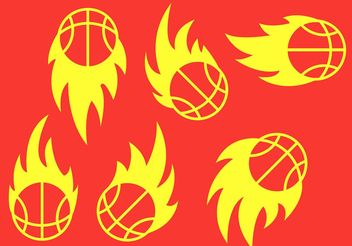Basketball on Fire Vectors - Free vector #148197