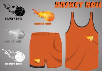 Basketball On Fire Sports Jersey Vectors - Free vector #148207